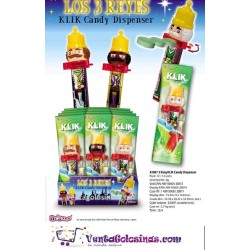 TRES REYES MAGOS CLICK CANDY DESPENSER 12UD AUSOME
