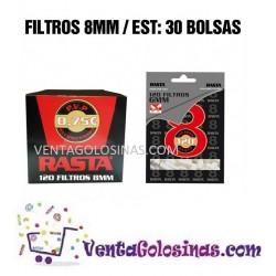 FILTROS 8 MM RASTA 30BOLSAS X120UD