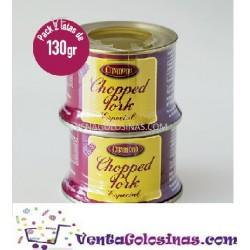 CHOPPED PORK SPECIAL PACK 2 LATAS X 130GR CRISMONA 12UD X CAJA